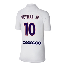 Nike Youth PSG 'NEYMAR JR 10' Third Stadium Jersey '19-'20 (White/University Red)