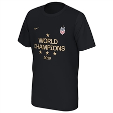 Nike Youth USWNT World Champions 2019 Podium T-Shirt (Black)