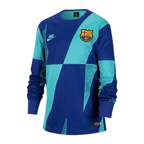 Nike Youth FC Barcelona Long Sleeve Pre-Match Top (Cabana/Deep Royal Blue)