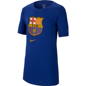 Nike Youth FC Barcelona Crest T-Shirt '19 (Deep Royal Blue)