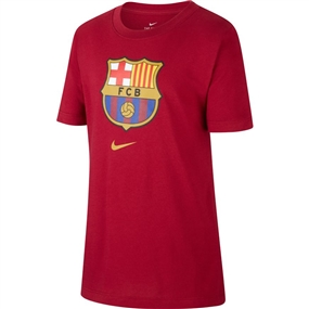 Nike Youth FC Barcelona Crest T-Shirt '19 (Noble Red)