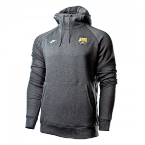 Nike Youth FC Barcelona Fleece Pullover Hoodie (Anthracite/Dark Grey/Cabana)