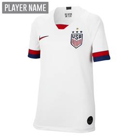 Nike USA Youth 2019 Home Stadium 4-Star Jersey (White/Blue Void/University Red)