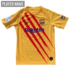 Nike Youth FC Barcelona El Clasico Stadium Jersey '19-'20 (Varsity Maize/Deep Royal Blue)