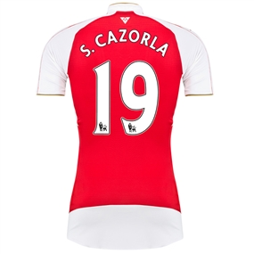 Puma Arsenal 'S.CAZORLA 19' Home '15-'16 Youth Replica Soccer Jersey (High Risk Red/White)