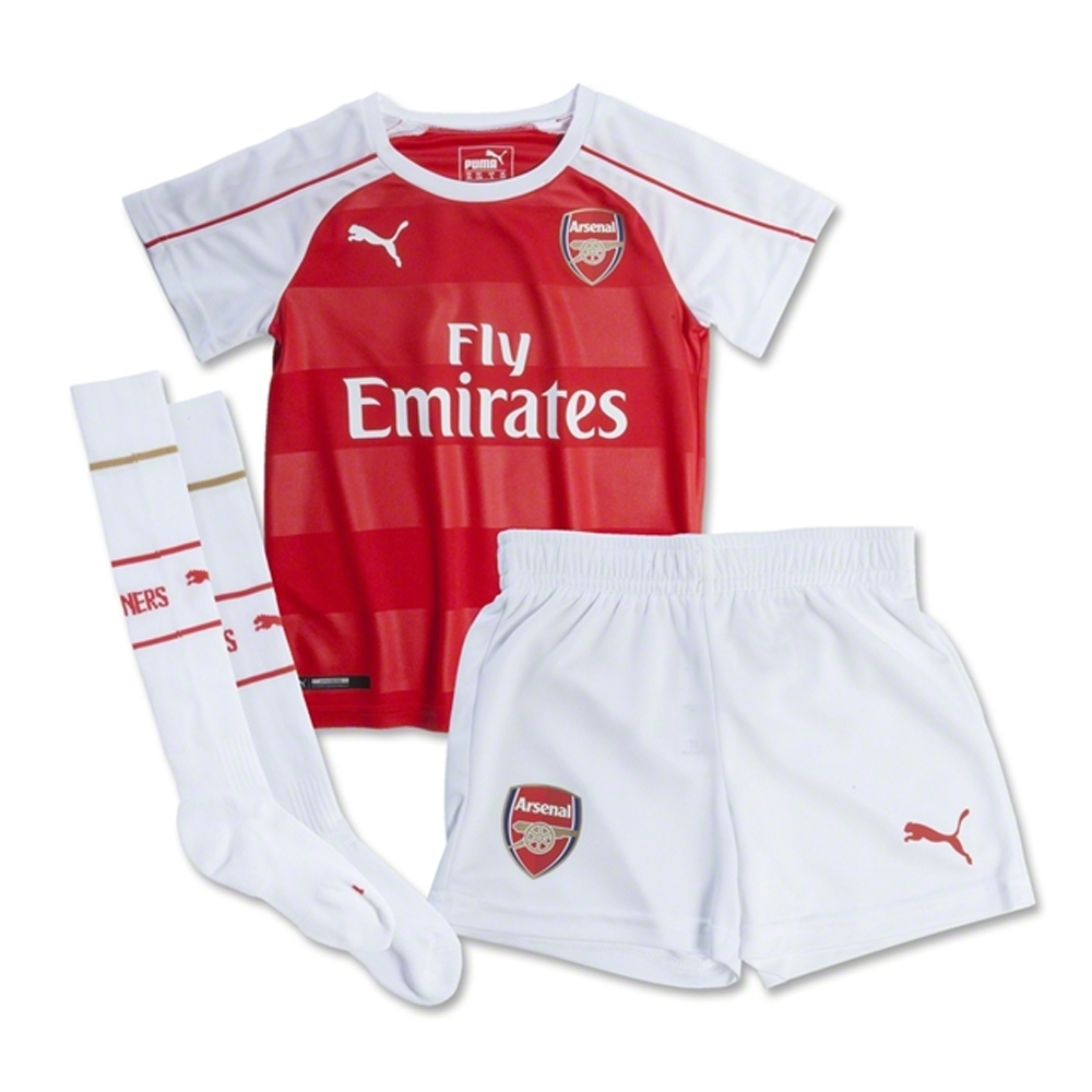 hot sale online 888eb ebc7c Puma Arsenal Home '15-'16 Toddler Mini Kit (High Risk Red/White)