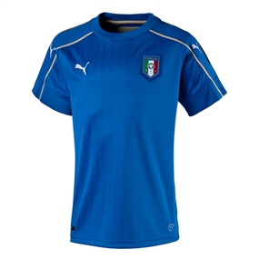 Puma Italy Home 2015-16 Youth Soccer Jersey (Team Power Blue/White)