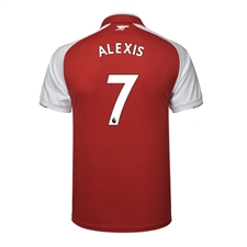 Puma Youth Arsenal 'ALEXIS 7' Home '17-'18 Replica Soccer Jersey (Red/White)