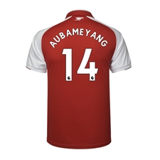 Puma Youth Arsenal 'AUBAMEYANG 14' Home '17-'18 Replica Soccer Jersey (Red/White)