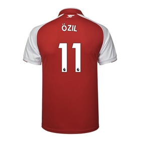 Puma Youth Arsenal 'OZIL 11' Home '17-'18 Replica Soccer Jersey (Red/White)