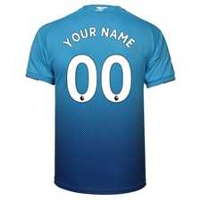 Puma Youth Arsenal 'CUSTOM' Away '17-'18 Replica Soccer Jersey (Blue)