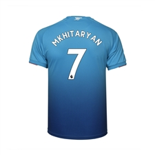 Puma Youth Arsenal 'MKHITARYAN 7' Away '17-'18 Replica Soccer Jersey (Blue)