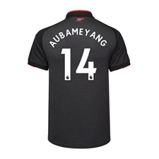 Puma Youth Arsenal 'AUBAMEYANG 14' Third '17-'18 Replica Soccer Jersey (Dark Heather Gray/Puma Black)