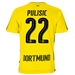 Puma Borussia Dortmund 'PULISIC 22' '17-'18 Youth Home Soccer Jersey (Cyber Yellow/Black)
