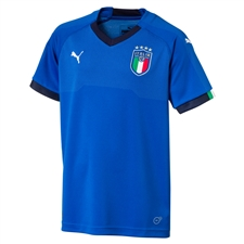 Puma Youth Italy Home Jersey '17-'18 (Blue)