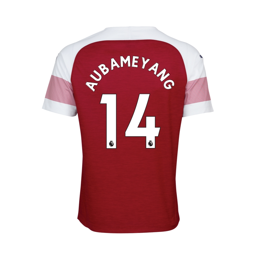 f3f28bab7 Puma Youth Arsenal  AUBAMEYANG 14  Home Jersey  18- 19 (Chili Pepper ...