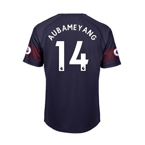 Puma Youth Arsenal 'AUBAMEYANG 14' Away Jersey '18-'19 (Peacoat/High Risk Red)