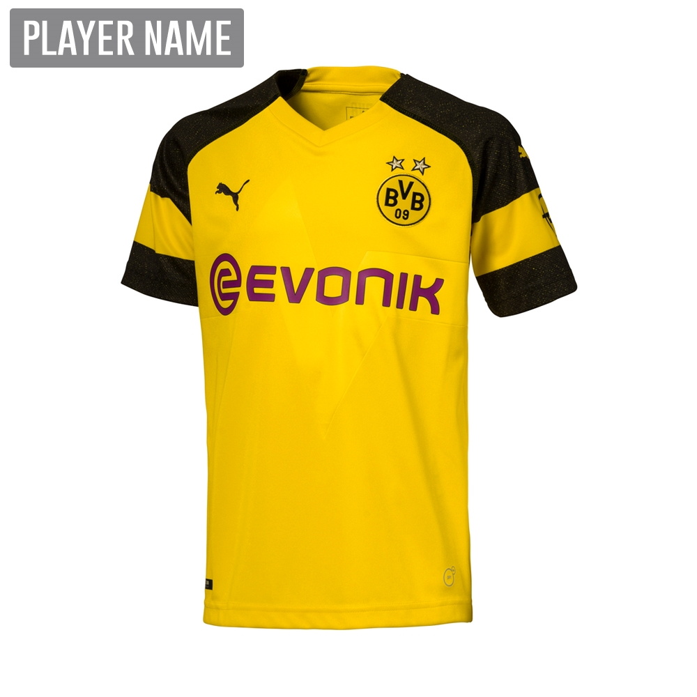 2aba23599cd Puma Youth Borussia Dortmund Home Jersey  18- 19 (Cyber Yellow Black ...