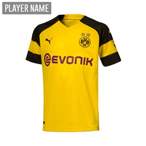 Puma Youth Borussia Dortmund Home Jersey '18-'19 (Cyber Yellow/Black)