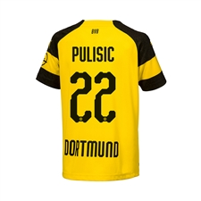 Puma Youth Borussia Dortmund 'PULISIC 22' Home Jersey '18-'19 (Cyber Yellow/Black)