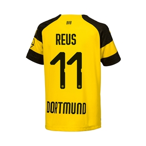 Puma Youth Borussia Dortmund 'REUS 11' Home Jersey '18-'19 (Cyber Yellow/Black)
