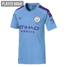 Puma Youth Manchester City Home Jersey '19-'20 (Team Light Blue/Tillandsia Purple)