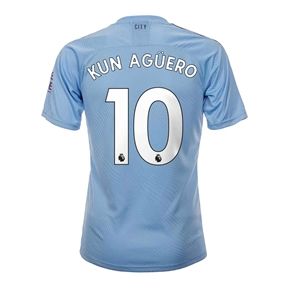 Puma Youth Manchester City 'KUN AGUERO 10' Home Jersey '19-'20 (Team Light Blue/Tillandsia Purple)