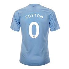 Puma Youth Manchester City 'CUSTOM' Home Jersey '19-'20 (Team Light Blue/Tillandsia Purple)