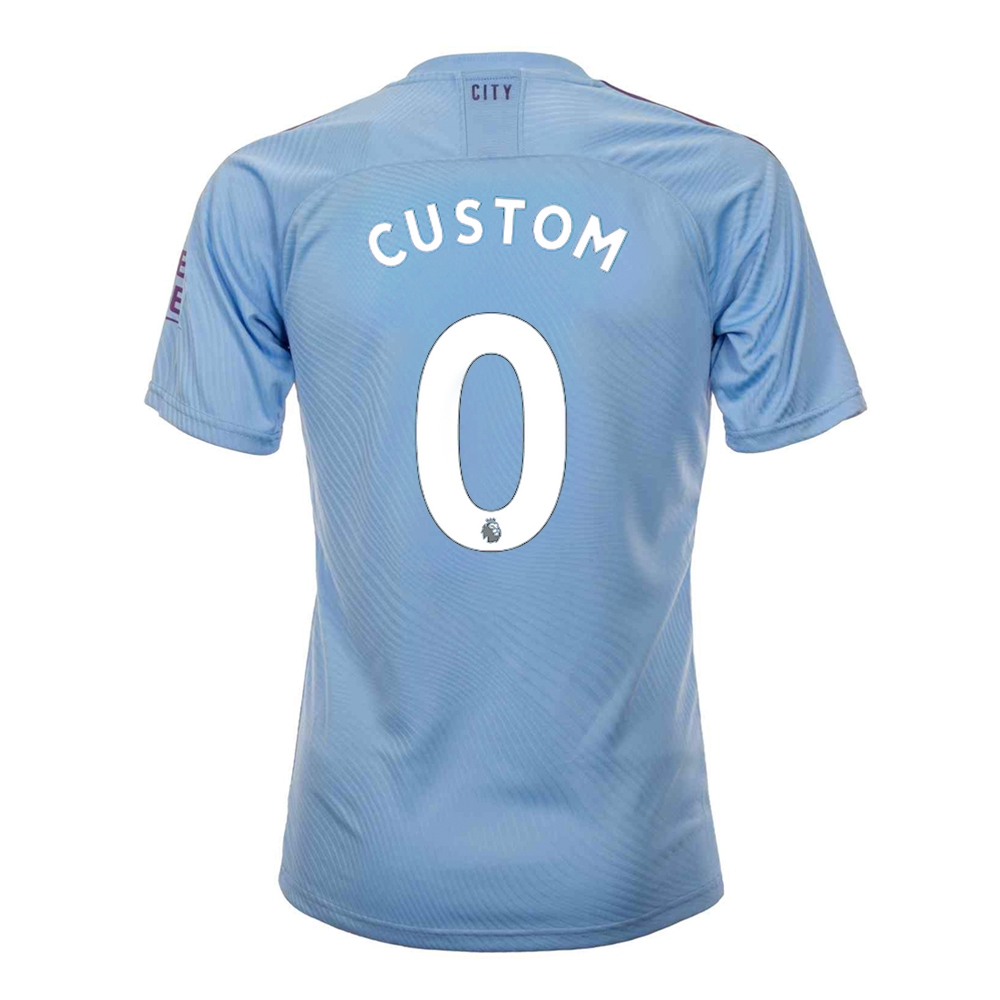 huge discount 041bb a3599 Puma Youth Manchester City 'CUSTOM' Home Jersey '19-'20 (Team Light  Blue/Tillandsia Purple)