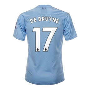 Puma Youth Manchester City 'DE BRUYNE 17' Home Jersey '19-'20 (Team Light Blue/Tillandsia Purple)