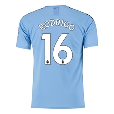 Puma Youth Manchester City 'RODRIGO 16' Home Jersey '19-'20 (Team Light Blue/Tillandsia Purple)
