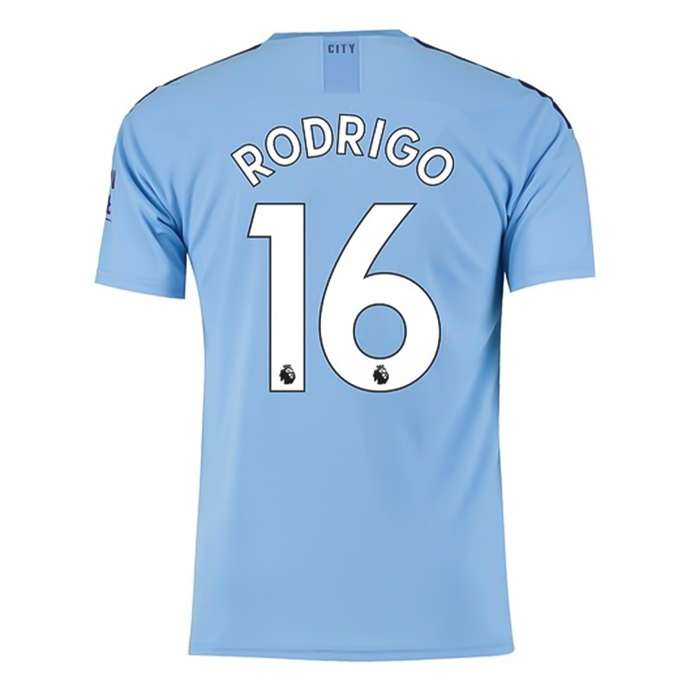 new arrivals 3851c 7d822 Puma Youth Manchester City 'RODRIGO 16' Home Jersey '19-'20 (Team Light  Blue/Tillandsia Purple)