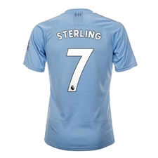 Puma Youth Manchester City 'STERLING 7' Home Jersey '19-'20 (Team Light Blue/Tillandsia Purple)