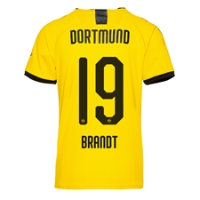 Puma Youth Borussia Dortmund 'BRANDT 19' Home Jersey '19-'20 (Cyber Yellow/Puma Black)