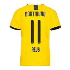 Puma Youth Borussia Dortmund 'REUS 11' Home Jersey '19-'20 (Cyber Yellow/Puma Black)