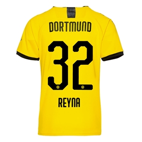 Puma Youth Borussia Dortmund 'REYNA 32' Home Jersey '19-'20 (Cyber Yellow/Puma Black)
