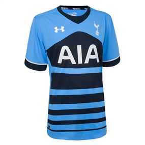 Under Armour Tottenham Away '15-'16 Youth Soccer Jersey (Blue)