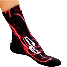 Vincere Sand Socks in Red Lightning