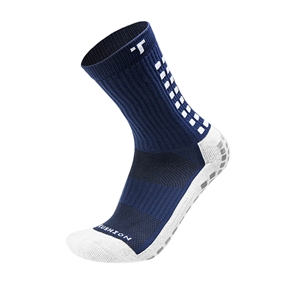 Trusox Mid-Calf Soccer Socks (Navy/White)