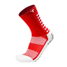 Trusox Mid-Calf Soccer Socks (Red/White)