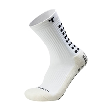 Trusox Mid-Calf Soccer Socks (White/Black)