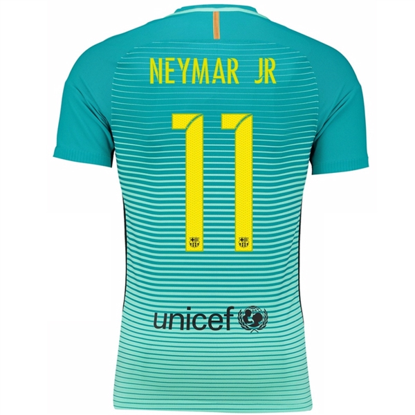 568f38ad7c8 Nike FC Barcelona Youth Third '16-'17 Soccer Jersey (Green Glow/