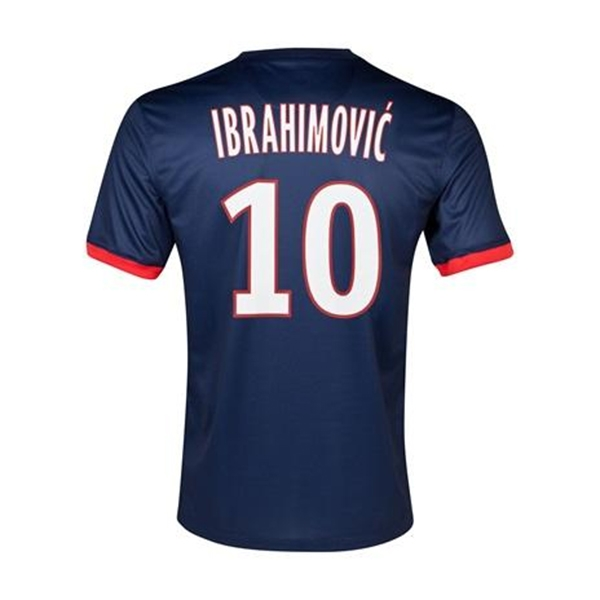 separation shoes 8ce95 ee52b Nike Paris St. Germain 'IBRAHIMOVIC 10' '13-'14 Home Soccer Jersey  (Navy/White/Red)