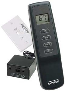 Skytech 1001TH Four Button Fireplace Remote Control ON/OF System with Thermostat and LCD DisplayFREE SHIPPING