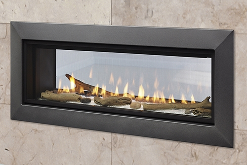 Majestic Echelon Ii See Through Wide View Modern Gas Fireplace With 36 Viewing Gl Size Direct Vent