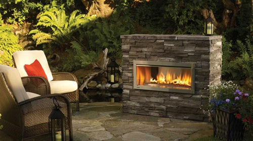 hzo42e outdoor modern gas fireplace ventless