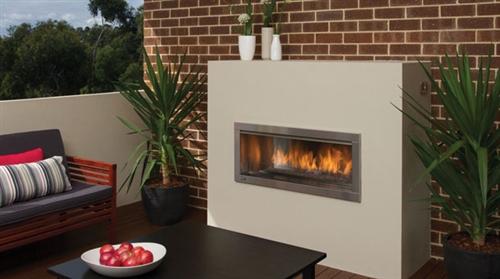 Regency hzo42e outdoor modern contemporary gas fireplace for Contemporary ventless fireplace
