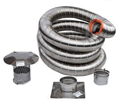 Forever Flex Double Wall Preinsulated Flexible Chimney