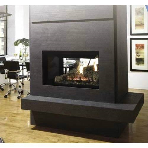 Kingsman Mdv31 Multi Sided See Thru Corner Or Peninsula Gas Fireplace Direct Vent 30 000 Btu Clean