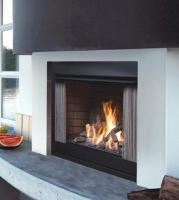 Kingsman Ofp42n Outdoor Gas Fireplace With Logs Vent Free Satin